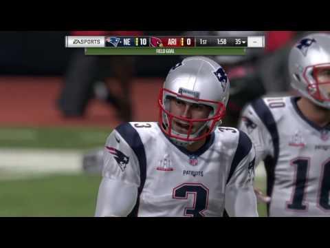 Patriots vs Cardinals Super Bowl LI