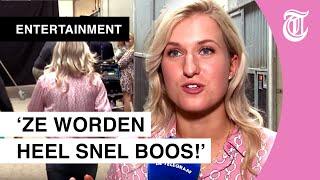 Interview Britt Dekker onderbroken als hengst George ander paard bespringt