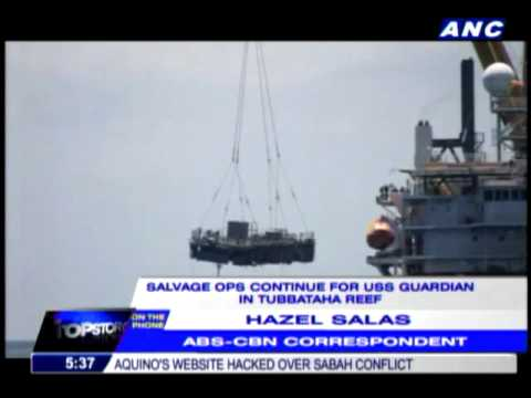 USS Guardian salvage ops reach halfway mark