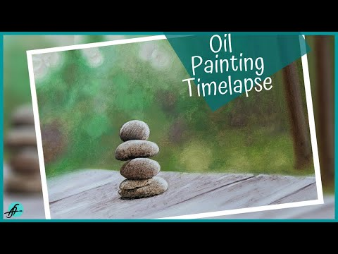 'HOW TO PAINT BALANCING ROCKS' In OILS I 'OIL PAINTING TIME LAPSE' I Relaxing Scene in Nature I Calm