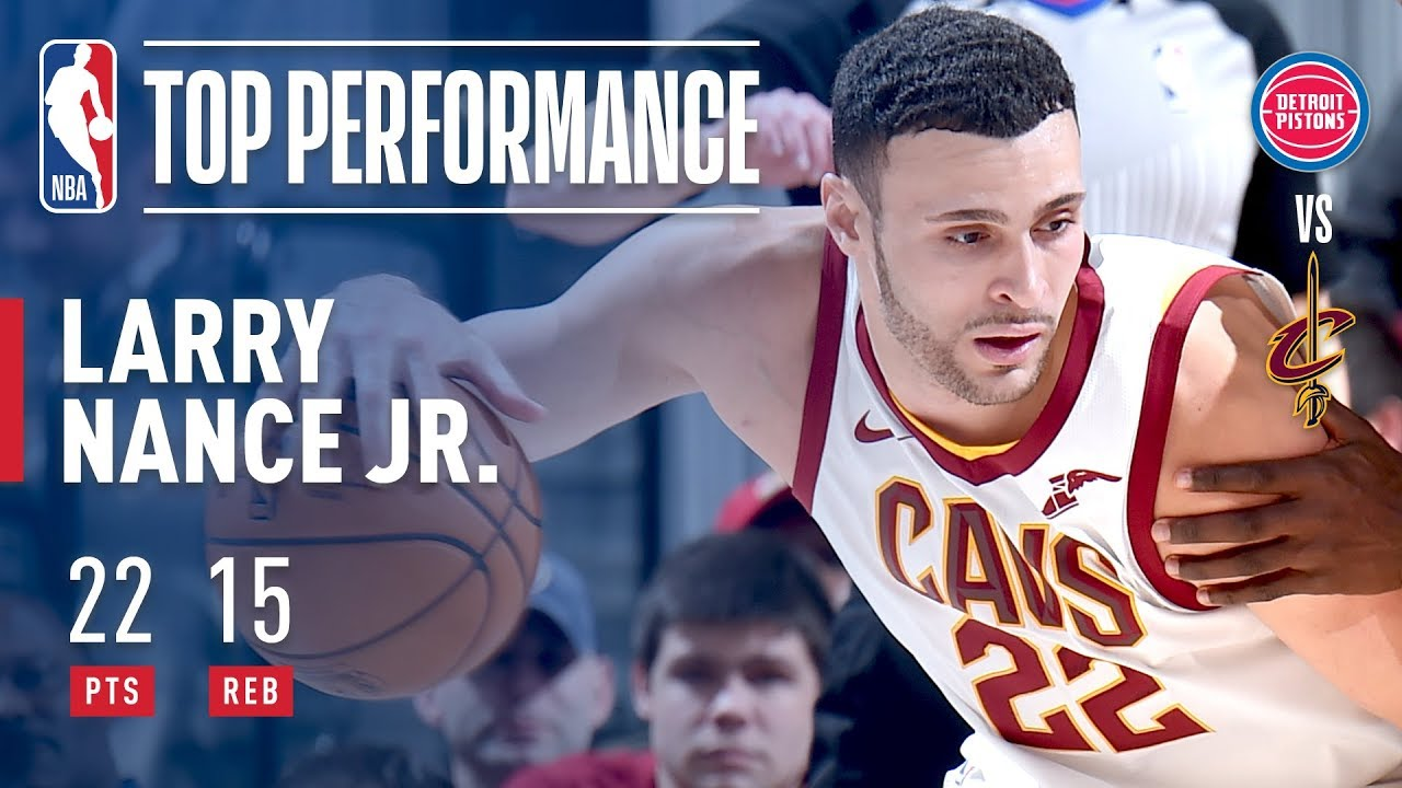 info for 6ce5d f83d0 Larry Nance Jr. Slams His Way To A Career High 22 Points vs The Pistons!