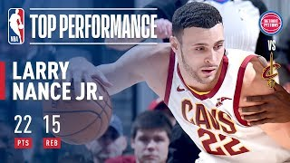 Larry Nance Jr. Slams His Way To A Career High 22 Points vs The Pistons!