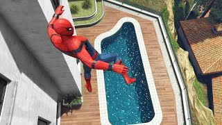 GTA 5 Water Ragdolls | SPIDERMAN Jumps/Fails #14 (Euphoria physics | Funny Moments)