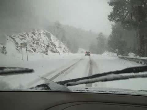 Snow storm on Mt Lemmon