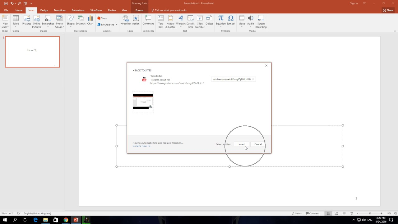 How To Insert A Video In Powerpoint 365