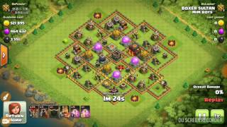 Clash of Clans No Defence 10 lakh loot max TH 10