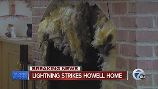Howell home struck by lighting