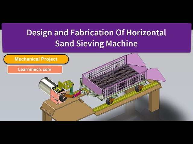 Horizontal Reciprocating Sand Sieving Machine - Part 2 | Mechanical Projects