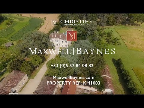Beautiful luxury chateau property for sale in the Gers - pool & tennis court. Maxwell-Baynes: KM1003