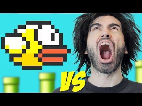 FLAPPY BIRD vs The World's Worst Gamer!