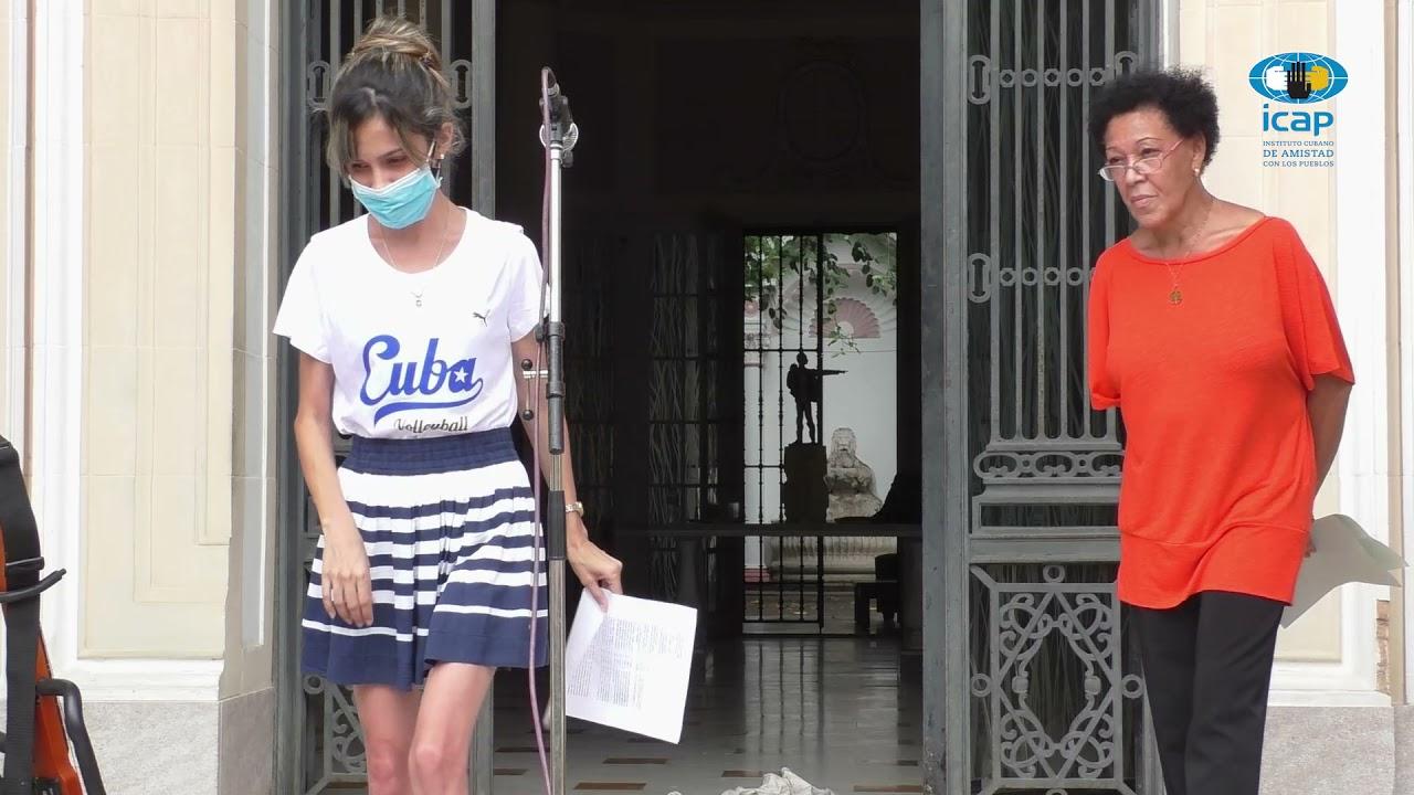 Acto reafirmación revolucionaria del Instituto Cubano de Amistad con los Pueblos