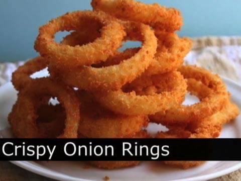 Crispy Onion Rings Recipe - How to Make Crispy Onion Rings ...
