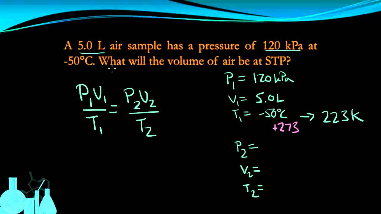 Chemistry 74d Combined Gas Law Youtube