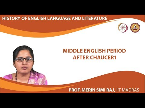 Lecture 3 - Middle English period after Chaucer