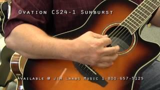 ovation cs24 1 sunburst acoustic guitar demo video