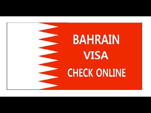 BAHRAIN VISA CHECK ONLINE-WITH PASSPORT NUMBER