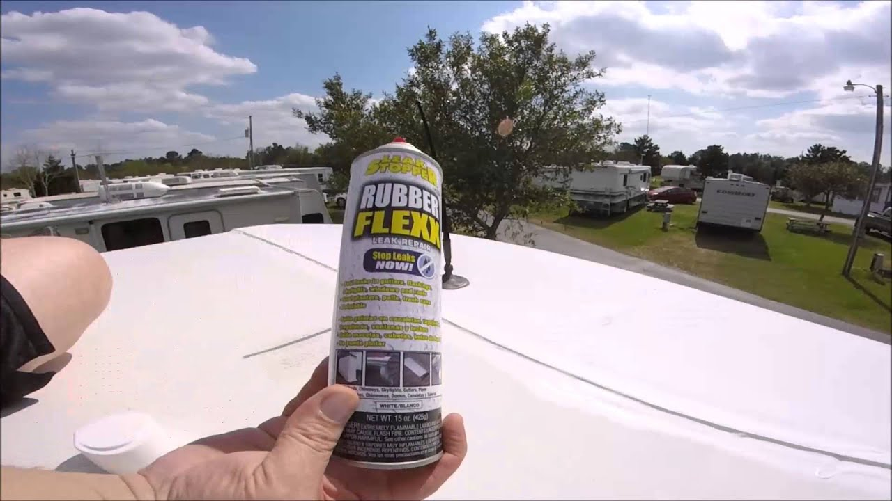 Rv Life Roof Leak Repair Winnebago Youtube