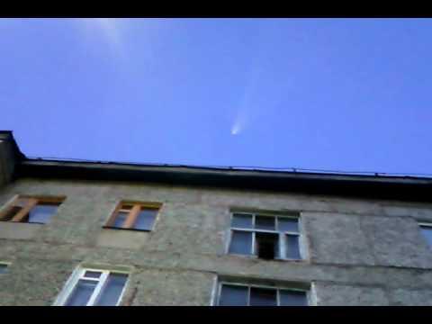 полет ракеты над г Емва Республики Коми