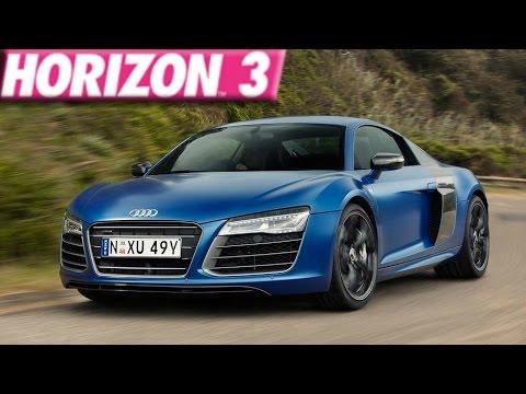 Forza Horizon 3 270 Mph 2013 Audi R8 V10 Plus Build Youtube