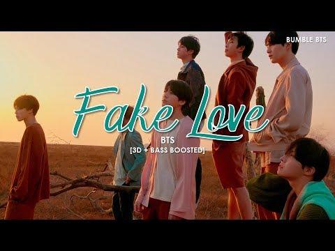 [3D+BASS BOOSTED] BTS (방탄소년단) - FAKE LOVE | bumble.bts