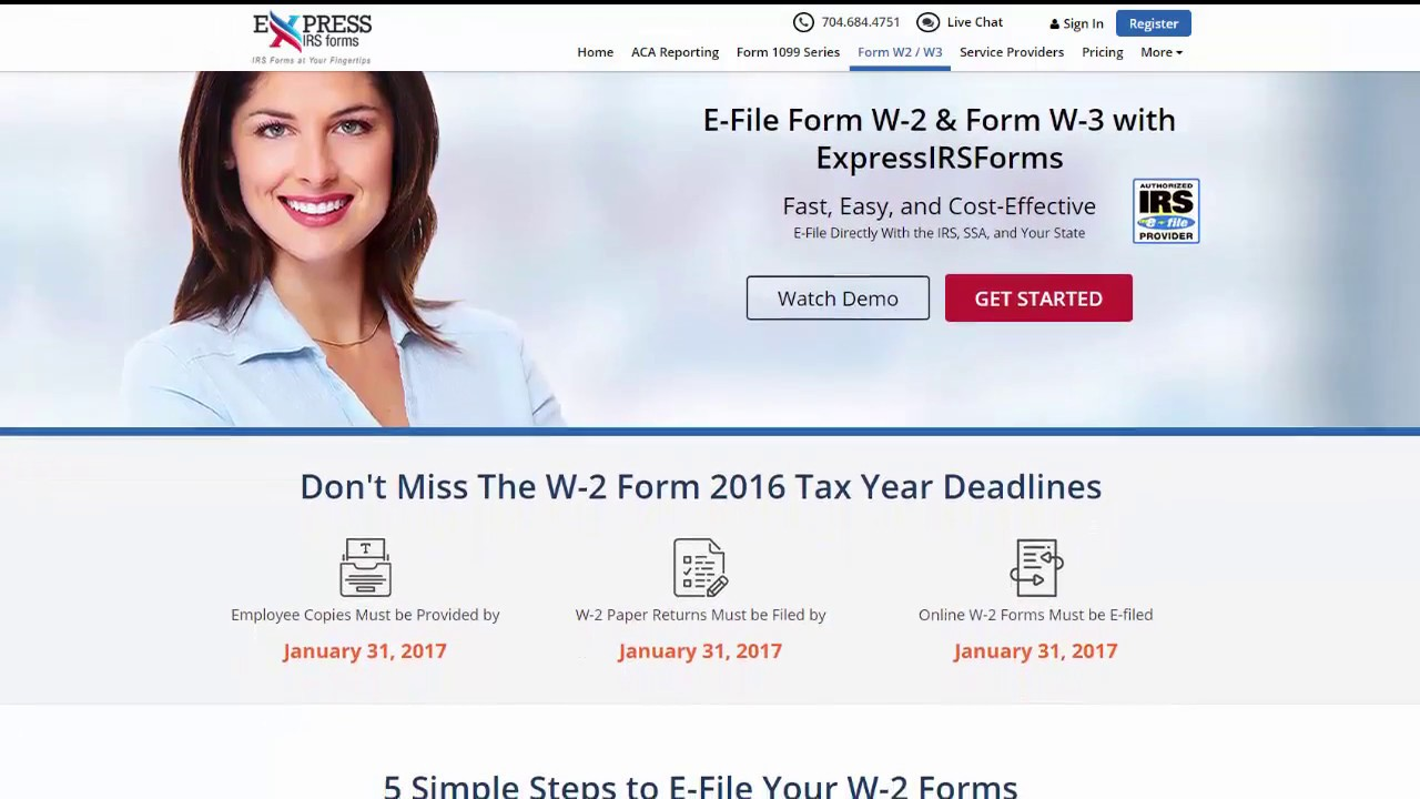 How to E-File IRS Form W-2 with ExpressIRSForms? - YouTube