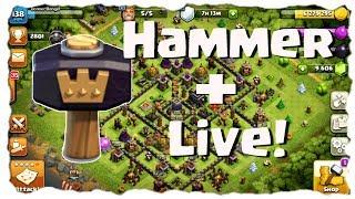 HAMMER 🔨🔨 NEHMEN - DANN LIVE ANGREIFEN! | Clash of Clans Deutsch | Let´s Play COC