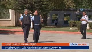 Camideki şüpheli şahıs polis çıktı