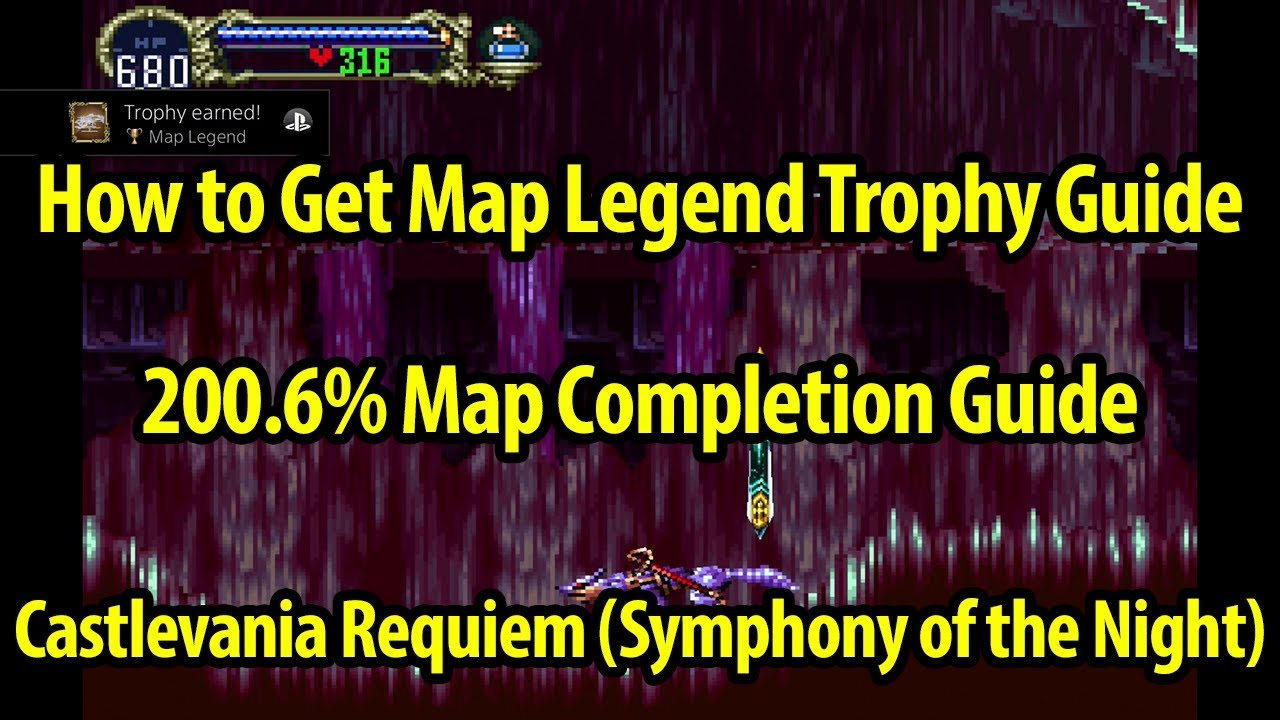 Castlevania World Map.How To Get Map Legend Trophy Guide 200 6 Map Castlevania Symphony Of The Night Requiem
