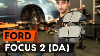 How to change Disk brake pads on FORD FOCUS II Saloon (DA_) - online free video