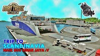 Euro Truck Simulator 2   GILLAAAA !!! Bus Sinar Jaya SR2 XHD Prime Road Test Langsung Di Eropa