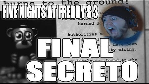 five nights at freddys 3  noche 6 nightmare  final secreto  guia  zellendust