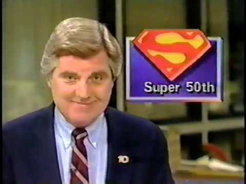 Superman's 50th Birthday March 1988 Channel 10 San Diego news report