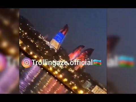 Как армянский флаг появился на башне в Баку. 4 июл. 2018