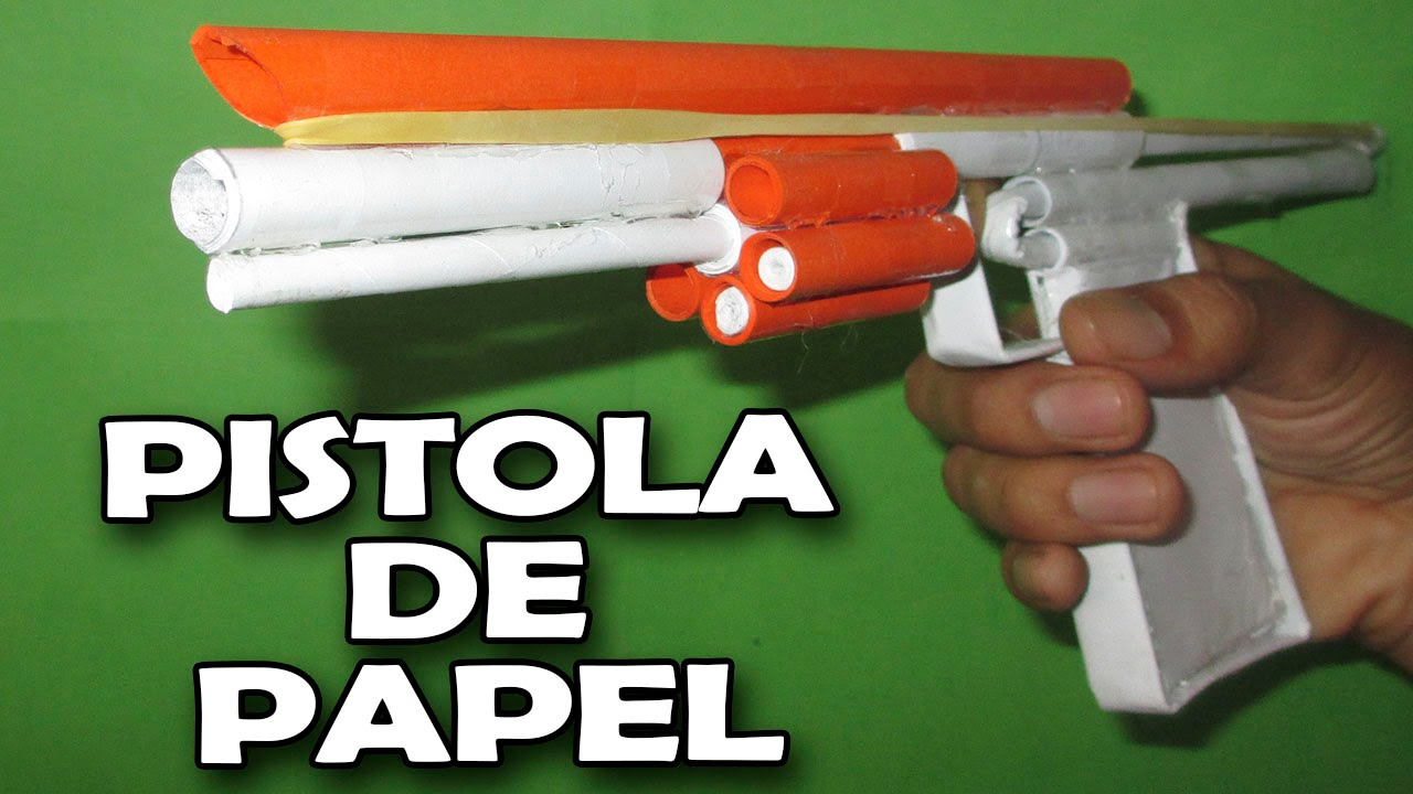 De Gun Make Caseras│how Pistola Que Una Como To Dispare│pistolas Papel Hacer Paper qpLSUVMjzG