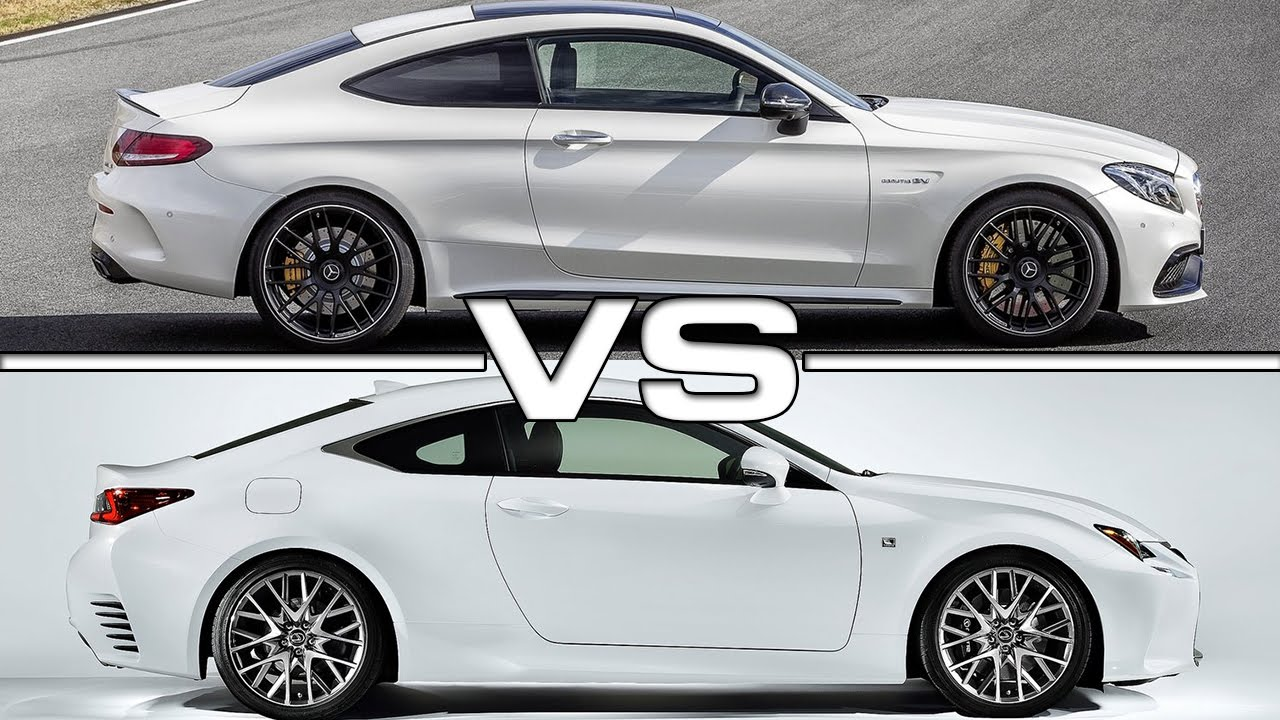 2017 mercedes amg c63 s coupe vs 2016 lexus rc 200t f. Black Bedroom Furniture Sets. Home Design Ideas