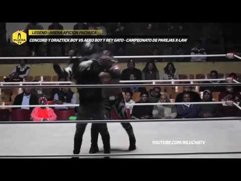 Concord y Draztick Boy vs Aero Boy y Rey Gato, Campeonato de Parejas X-LAW