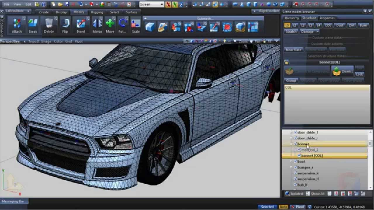 new version of ZModeler 3 now to the import of vehicles gta v - GTA