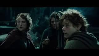 Фродо ранят Моргульским клинком. Арагорн спасает хоббитов. Властелин колец фильм:Братство кольца