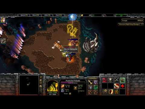 Warcraft 3 - Burning Crusade Solo First Boss Of Gruuls Lair (Custom Map)