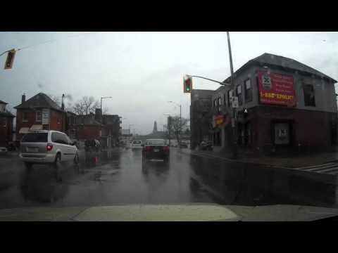 Drive from Hamilton to Mississauga in the rain