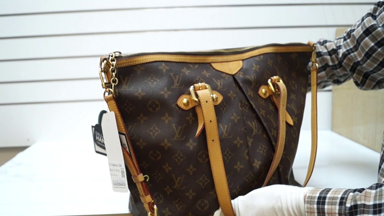 c5bd5dd1371c LOUIS VUITTON Palermo GM Monogram Canvas Tote Shoulder Bag E5024 ...