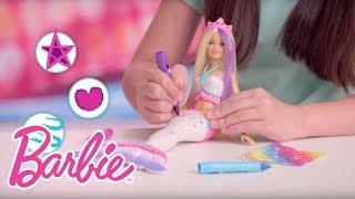 Barbie Crayola Color Magic Mermaid Demo Video   Barbie