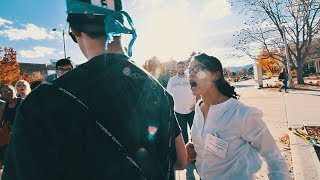 Triggered Liberal ATTACKS Man at CSU