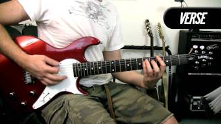 In The End - Green day - Electric Guitar Cover - How To Play Example