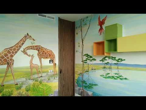 Роспись стен в детской - джунгли
