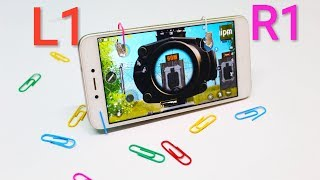 L1 R1 firing button PUBG MOBILE GAME paper clips At Home