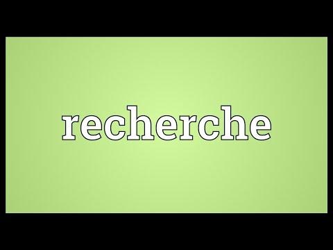 Recherche Meaning
