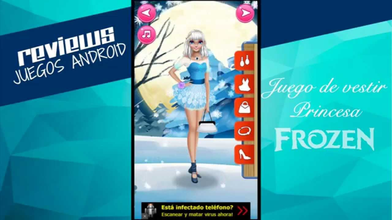 Juego de vestir Princesa Frozen Android - YouTube