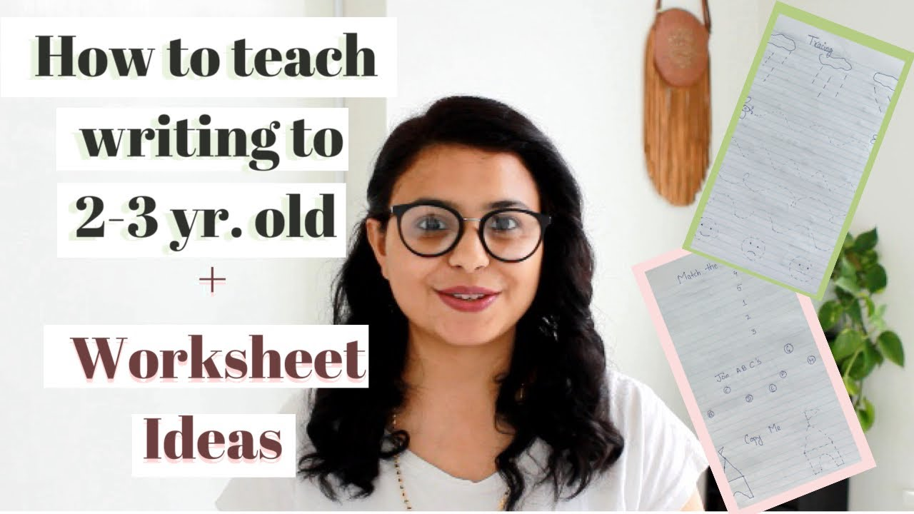 How To Teach 2 - 3 Year Old Kids WRITING   Daily PRACTICE WORKSHEET for  Toddler [ 720 x 1280 Pixel ]