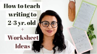 How To Teach 2 - 3 Year Old Kids WRITING   Daily PRACTICE WORKSHEET for Toddler, Preschool, Nursery